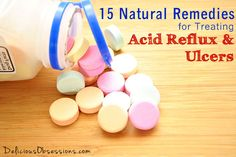 15 Natural Remedies for Treating Acid Reflux and Ulcers // deliciousobsessions.com #naturalremedies #herbs #acidreflux #guthealth