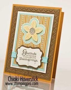 Layout with Triple Treat Flower - by Chiaki Haverstick