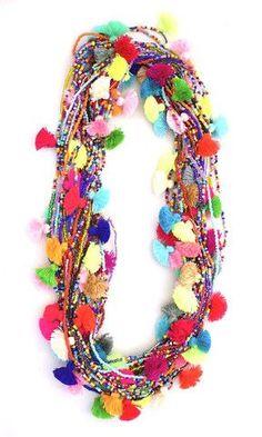 Fiesta Pom Pom Necklaces: