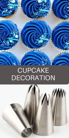 Cake Decorating Set, Cake Decorating Techniques, Decorating Ideas, Wilton Piping Tips, Piping Icing, Cupcake Icing, Cupcake Cakes, Icing Nozzles, Delicious Desserts