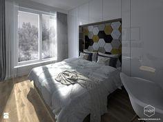 Skandynawska sypialnia - Średnia sypialnia małżeńska, styl skandynawski - zdjęcie od MOJE