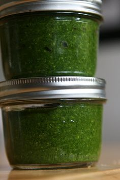 Freezing Pesto. Delicious on pasta, as a marinade for shrimp...summertime fresh to enjoy any time of year!