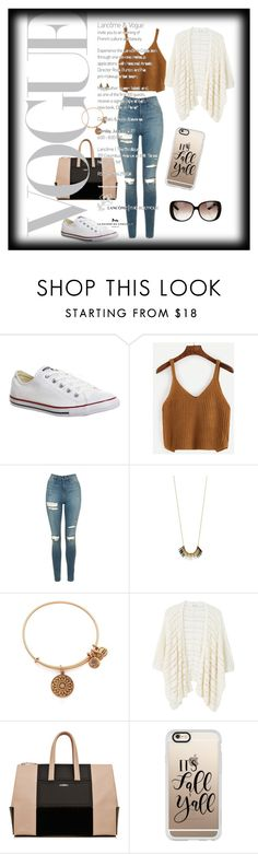 """""""Fall is here!🤗"""" by divaqueens ❤ liked on Polyvore featuring Converse, WithChic, Topshop, Alex and Ani, MANGO, Casetify and Gucci"""