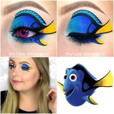 Dory makeup look                                                                                                                                                                                 More