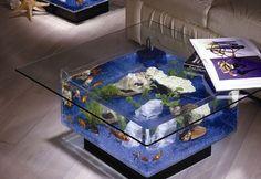 Midwest Tropical Fountain 25 Gallon Aqua Coffee Table Aquarium Tank & Reviews   Wayfair