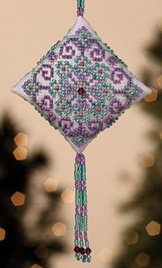 Mill Hill Tiny Treasured Diamond  Royal Orchid by DebiCreations, $8.49