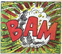 Bam explosion comic book sound effect