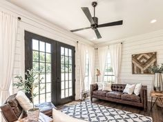 perfect airy farmhouse living room