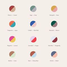 New at our Crosby Street studio: a color-theory cheatsheet to guide you through your next mani. Colour Pallete, Colour Schemes, Color Combos, Color Patterns, Color Palettes, Colour Combinations Interior, Web Design, Logo Design, House Design