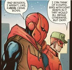 Red hood and arsenal. Jay a crime boss