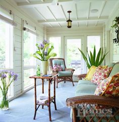I love these colors and I'd love to have an enclosed porch.