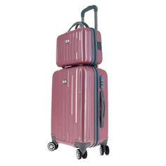 596a66b391 Le set de bagagerie Glossy rose de Bleu Libellule est un véritable coup de  cœur !