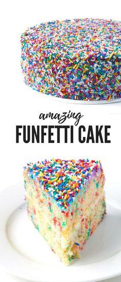 Funfetti Vanilla Layer Cake - Sweetest Menu
