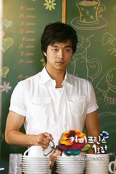 Gong Yoo as Choi Han Gyul - Coffee Prince Gong Yoo Coffee Prince, Korean Actors, Korean Dramas, Kdrama, Goong Yoo, Goblin Gong Yoo, Yoon Eun Hye, Yoo Gong, Hot Asian Men