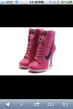 High heel Nikes. Um i actually want these!