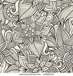 Vintage decorative floral ornamental seamless pattern by balabolka, via Shutterstock