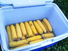 Camp Essential: How To Make Cooler Corn - This simple tip comes from Dave Arnold, one of the founding partners ofAdventures on the Gorge,near Fayetteville, W.Va. The adventure-sports outfitter runs thousands of people down the New and Gauley Rivers each year, many of whom need fed to be during or after their trip. In his years as a rafter and river guide, Arnold came across this quick and easy tip for cooking a pile of sweet corn with just a beer cooler and hot water.