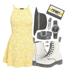 """""""▫if you don't want me, set me free▫"""" by jazziwheat ❤ liked on Polyvore featuring Dr. Martens, River Island, Pieces, Emporio Armani, MANGO, LeiVanKash and theclash"""