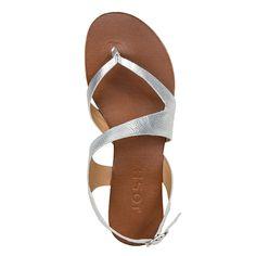 SKR475 Plata Sup 100% cuero hecho en Colombia shoes sandalias planas