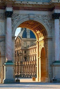 Louvre- this is great design: one structure frames another, entices you to move forward, rewards you with a visual endpoint.