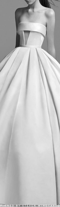 Alex Perry Bride - Riley Strapless Satin Cuff Gown #alexperry #fall2018 #fw18 #weddingdress