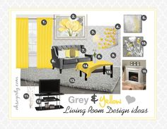 Nice Yellow Grey Living Room Intended For Your Own Home Check More At