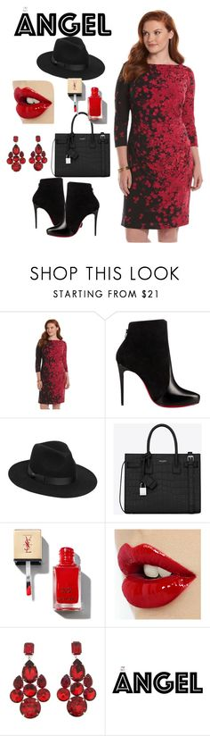 """""""plus size lady"""" by amela83 ❤ liked on Polyvore featuring Chaps, Christian Louboutin, Lack of Color, Yves Saint Laurent and Dolce&Gabbana"""