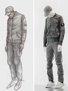 Aitor Throup x Stone Island. Articulated Anatomy