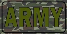 United States Army Camouflage Novelty Vanity Metal License Plate Tag Sign