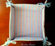 Carolina Creates: fabric basket / bread basket