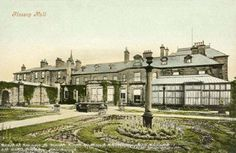 Glossop Hall, Glossop, c 1910s?   The Hall was demolished in the late 1950s and some of the stonework was used in the new bungalows on Hall Meadow Road
