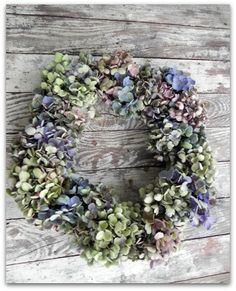 DIY: Hydrangea Wreath & Garland Tutorial - very easy project!