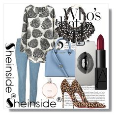 """""""Shein !!"""" by dianagrigoryan ❤ liked on Polyvore featuring Christian Louboutin, Michael Kors, H&M, Lipsy and NARS Cosmetics"""