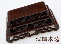3 pcs hard Wood Stand of Netsuke Snuff bottle Carving CHINA FOLK ART handwork