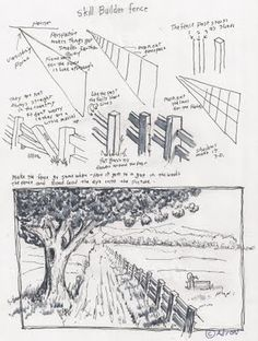 Adron's Art Lesson Plans: How To Draw A Fence In A Rural Scene