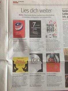 """Was steht heute im KURIER? Die Buchtipps fürs Wochenende!!! Und mein neues Buch ist mit auf der Empfehlungsliste!!!! """":-) :-) :-) Appropos..... Erhältlich bei Amazon: http://www.amazon.de/Reden-ist-Silb…/…/ref=zg_bsnr_3820941_1"""