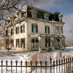 MacKenzie-Childs farm Aurora NY Victorian Farmhouse