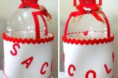 Como Fazer um Porta-Sacolas de Garrafa Pet e EVA | Reciclagem no Meio Ambiente – O seu portal de artesanato com material reciclado