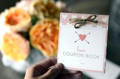 How to Make a Love Coupon Book | DIY Valentines Day Ideas | https://diyprojects.commake-a-love-coupon-book-for-your-valentine