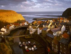 The pretty village of Staithes on the Yorkshire Coast - Joe Cornish