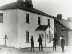 RIC Station, Blanchardstown Courtesy of Fingal County Libraries Ireland 1916, Dublin Ireland, Old Pictures, Old Photos, Vintage Photos, County Library, Irish, History, Libraries