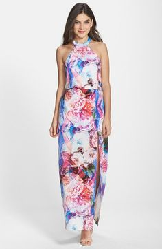 Charlie+Jade+Floral+Print+Silk+Cutout+Maxi+Dress+available+at+#Nordstrom