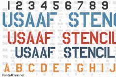 USAAF Stencil Font