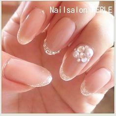 ネイル 画像 Nail salon PERLE 大分 1153838 ベージュ フレンチ ハンド 秋 ソフトジェル その他 One Color Nails, Nail Colors, Bride Nails, Wedding Nails, Cute Nails, Pretty Nails, Golden Nails, Burgundy Nails, Gel Nail Designs
