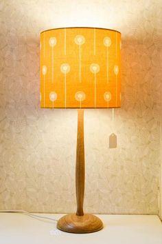 Turned Wooden Lamp Base: Hand-turned Wooden Lamp Base (Oak),Lighting
