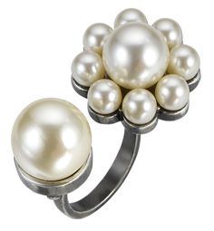 6068b0912 Pearl Daisy Split Ring Split Ring, Contemporary Design, Costume Jewelry,  Daisy, Pearl