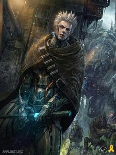 Sci Fi Warrior with laser sword Fantasy Character Design, Character Concept, Character Art, Concept Art, Arte Ninja, High Fantasy, Fantasy Art, Fantasy Inspiration, Character Inspiration