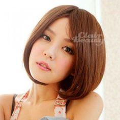 Short Wigs - Straight Caramel - One Size Short Wigs, Caramel, Beauty, Earrings, Style, Salt Water Taffy, Beleza, Toffee, Stud Earrings