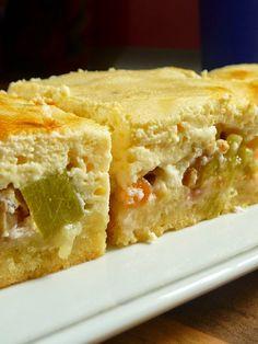 Meine grüne Wiese: Rhabarber-Quark-Kuchen mit Streuselboden