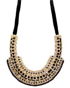 collier noir et doré de bershka